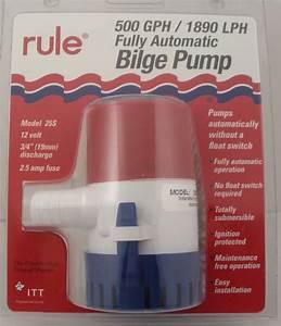 Rule 25s 500gph Automatic Bilge Pump For 3  4 U0026quot  Hose 14041