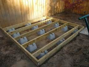 building a ground level deck with deck blocks outdoor