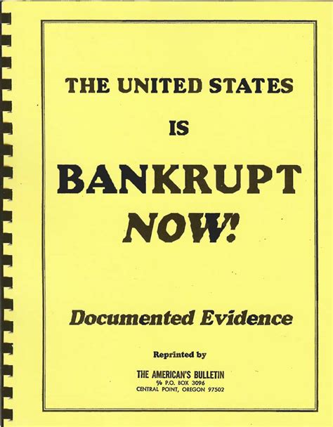 united states is bankrupt now documented evidence americans bulletin