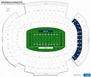 Beaver Stadium Seating Chart Club Endzone Beaver Stadium Football Seating