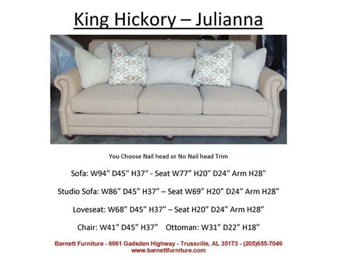 king hickory julianna sofa  choose  fabric