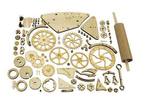 mechanical wooden clock kit dudeiwantthatcom