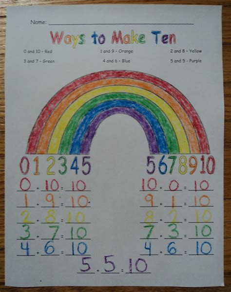 Learning And Teaching For Life Ways To Make Ten Rainbow