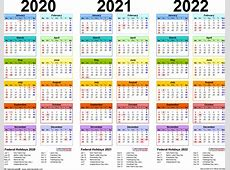 202020212022 calendar 4 threeyear printable Word