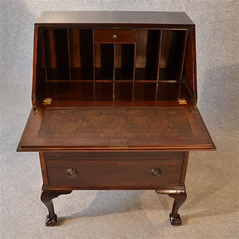 vintage bureau antique bureau edwardian writing desk mahogany antiques