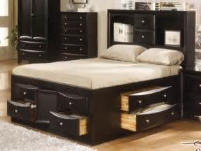 Queen Size Storage Platform Bed