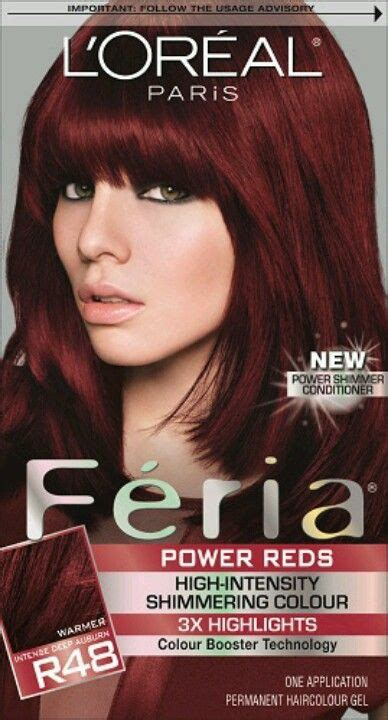 love red intense deep auburn red red hair color