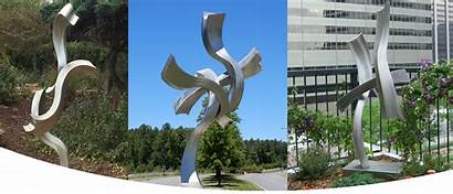 Sculpture Steel Contemporary Stainless Metal Robb Kevin