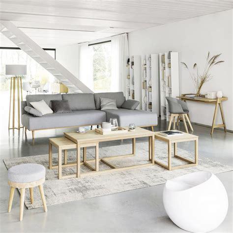 tapis en coton gris    cm feel maisons du monde