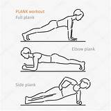 Plank Workout Exercise Drawing Illustration Making Drawings Depositphotos Getdrawings Vector sketch template