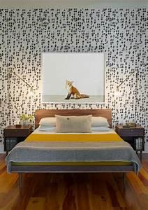Wandgestaltung Vintage Look : 30 schlafzimmer tapeten f r einen sch nen schlafbereich ~ Lizthompson.info Haus und Dekorationen