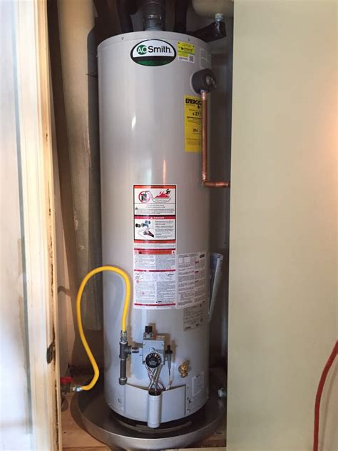water heater in garage code new ao smith water heater in garage per code compliance yelp