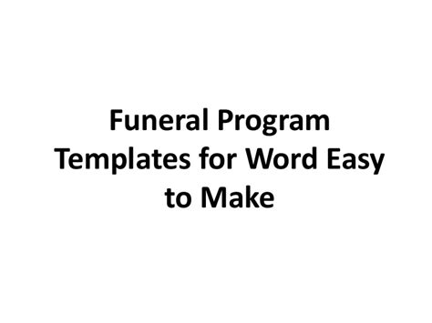 printable funeral program template  word