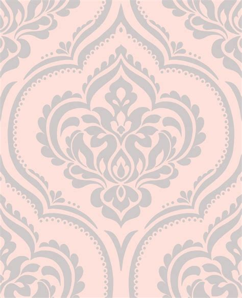 pink silver damask wallpaper gallery