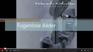 Badgestaltung Ohne Fliesen : wohnideen wandgestaltung maler neues video fugenlose badgestaltung auf youtube online ~ Sanjose-hotels-ca.com Haus und Dekorationen