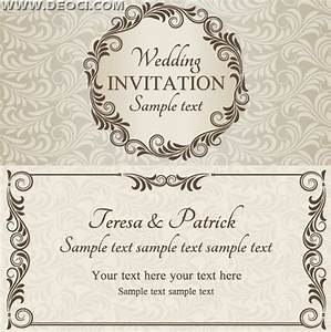 wedding cards design templates free download wblqualcom With wedding invitation card format templates free download