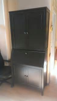 black secretary desk with hutch foter