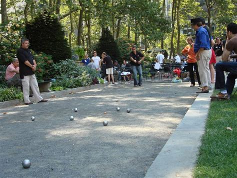History of Bowling, Boules, and Bocce in Parks : NYC Parks
