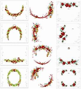 Vector christmas wreath collection Free vector in Adobe ...