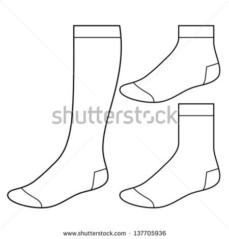 baby sock template blank images smartwool hiking