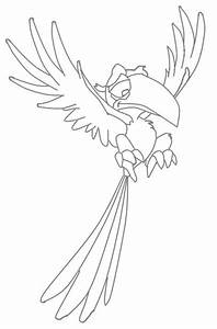 Zazu - Lion King Character Coloring Page