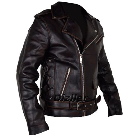 ghost rider leather jacket nicolas cage hollywood film men motorbike  leather
