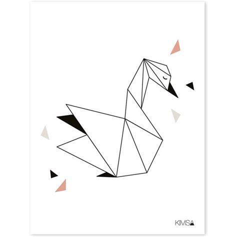 chambre style lilipinso affiche cygne design origami