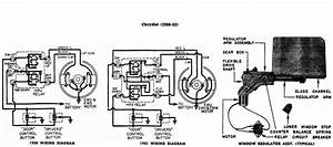 Window Regulator Wiring Diagram Chrysler 1950-53 1  2 - Electrical