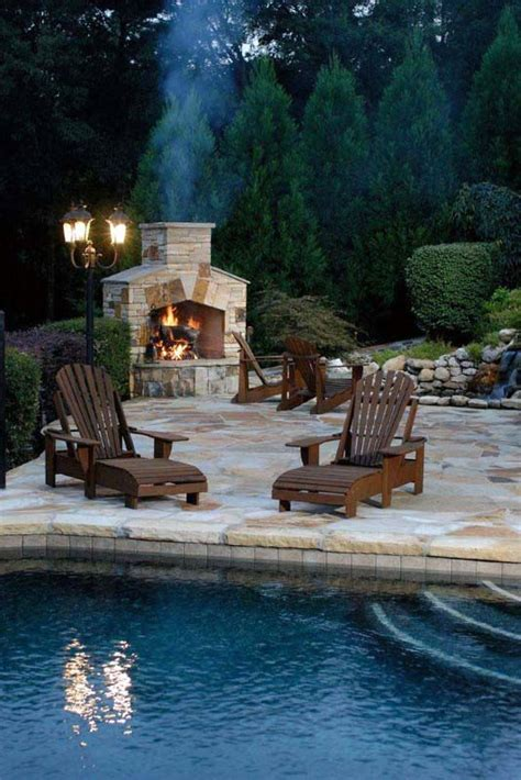 70 outdoor fireplace designs for cool pit ideas