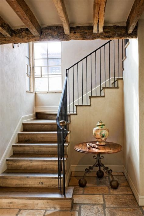 A beautiful combination of aged wood and metal   Ideas for