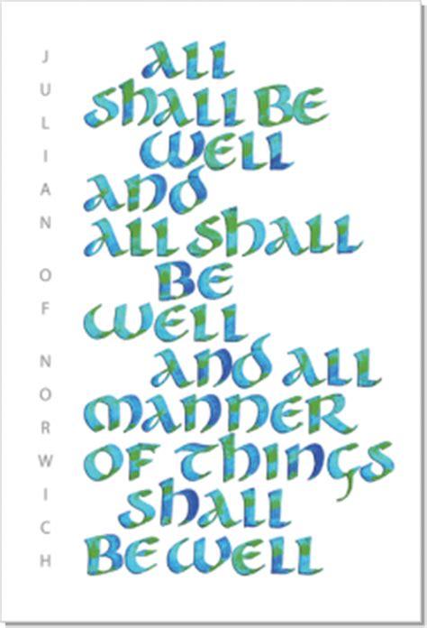 julian  norwich     calligraphy art