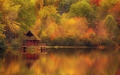 Autumn Desktop Scene Background Fall Backgrounds Lake