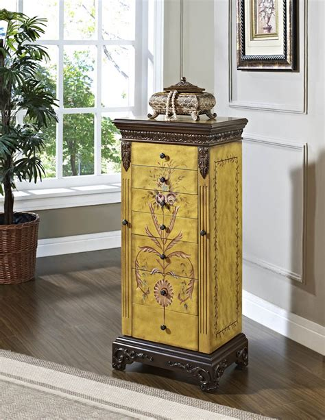 Painted Jewelry Armoire Masterpiece Jewelry Armoire Antique Parchment