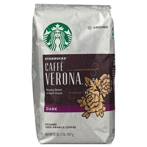 Starbucks dark roast variety pack includes 1 bag each of french roast, sumatra and caffè verona ground coffee. Starbucks Cafe Verona Dark Roast Ground Coffee, 32 oz. - BJs WholeSale Club