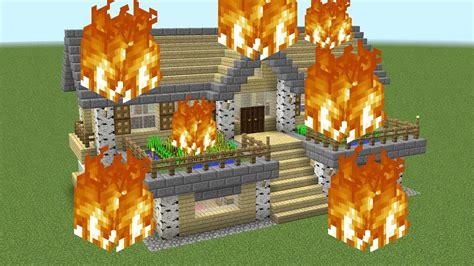 burning minecraft house  rage youtube