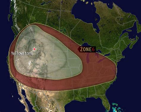 yellowstone volcano eruption zone death map ash fallout path would discord secondary express millions stranded