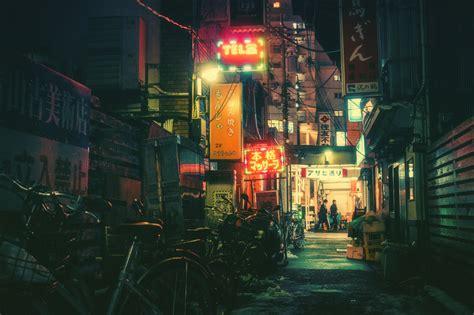 ruelle tokyo nuit  la boite verte