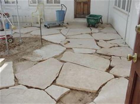 flagstone patio mortared vs gravel sand