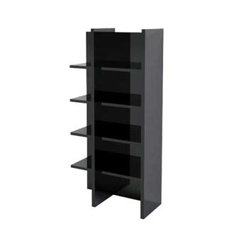 Black High Gloss Bookcase by Furniture123 Sylvie High Gloss Black Bookcase Review