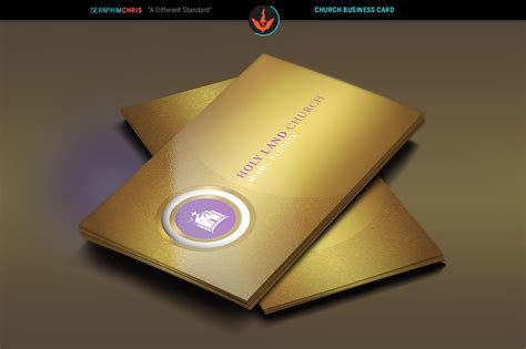 gold church business card template business card