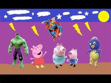superman peppa pig and samuel peppa pig hulk superman pablo português