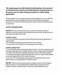 6 non profit proposal examples samples With how to write a grant letter for a nonprofit organization