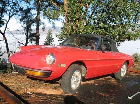 Alfa Romeo Parts Usa by Purchase Used 74 Alfa Romeo Spider Convertible 5 Speed