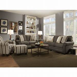 Swan living room sofa loveseat dark stone 97b for Loveseat living room