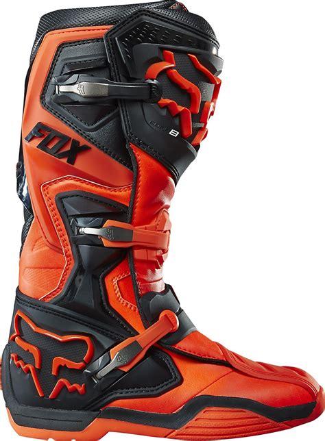 orange motocross boots fox comp 8 motocross boots orange mx enduro off road quad