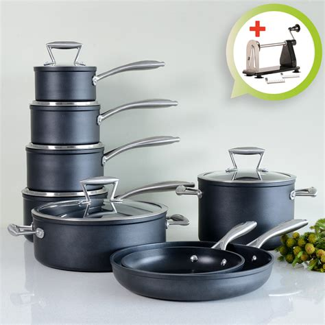 induction pans pots stick non cookware procook kitchen forged piece cooking heat steel stainless matching single