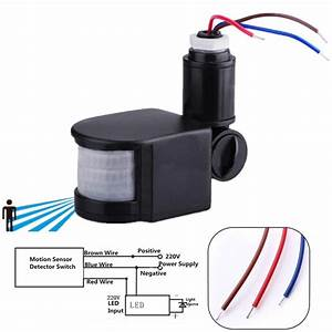 Infrared Pir Motion Sensor Switch Infrared Sensor Detector Wall Light Switch For Led Light Tools