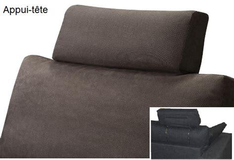 appui tete canapé canapé tissu piccolo fixe ou convertible home spirit