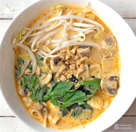 cuisine klein curry suppe mit kokosmilch reisnudeln madame cuisine