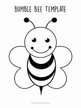 Bee Printable Template Templates Cartoon Coloring Simple Bees Crafts Printables Pages Preschool Bumble Craft Project Easy Print Simplemomproject Activity Stencil sketch template